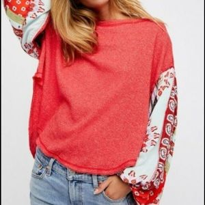 We the Free Blossom Oversized Thermal Top Large